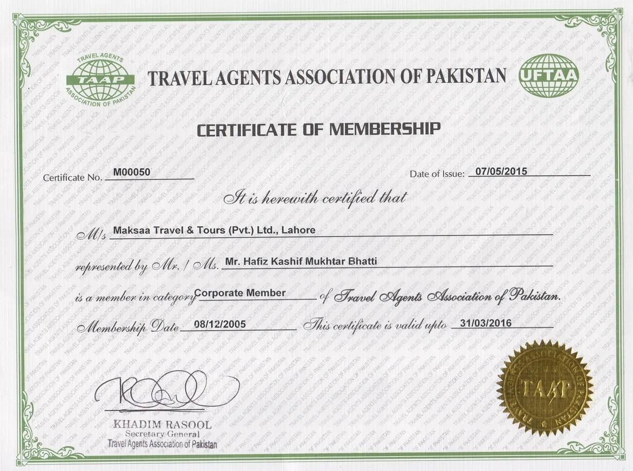 Maksaa Travel Agents Association Of Pakistan